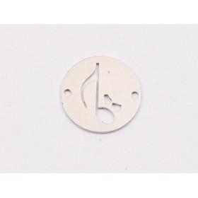 P3533-Swarovski Elements 2088/I Black Diamond Dorado Z Foiled 7mm-1buc