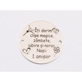 P3537-Swarovski Elements 2088/I Black Diamond Light Crome Z Foiled 7mm-1buc
