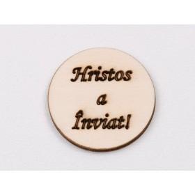 Cercei platiu 6mm cu Ceralun si Swarovski Elements Crystal-Light Sapphire-Sapphire