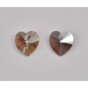 P3504-Swarovski Elements 6228 Black Diamond Shimmer 10mm