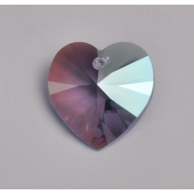 P3502-Swarovski Elements 6228 Light Sapphire Shimmer 14mm