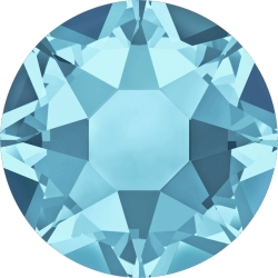 0282-SWAROVSKI ELEMENTS 2078 Aquamarine Silver-Foiled Hotfix SS16-1buc