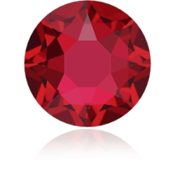 0293-SWAROVSKI ELEMENTS 2078 Scarlet S-Foiled Hotfix SS16-4mm-1buc