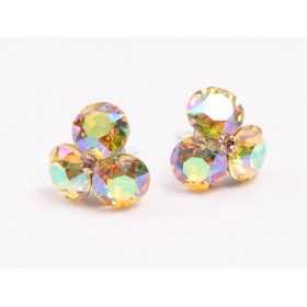 0419-SWAROVSKI ELEMENTS 2038 Light Sapphire Shimmer S-Foiled Hotfix SS6-1buc