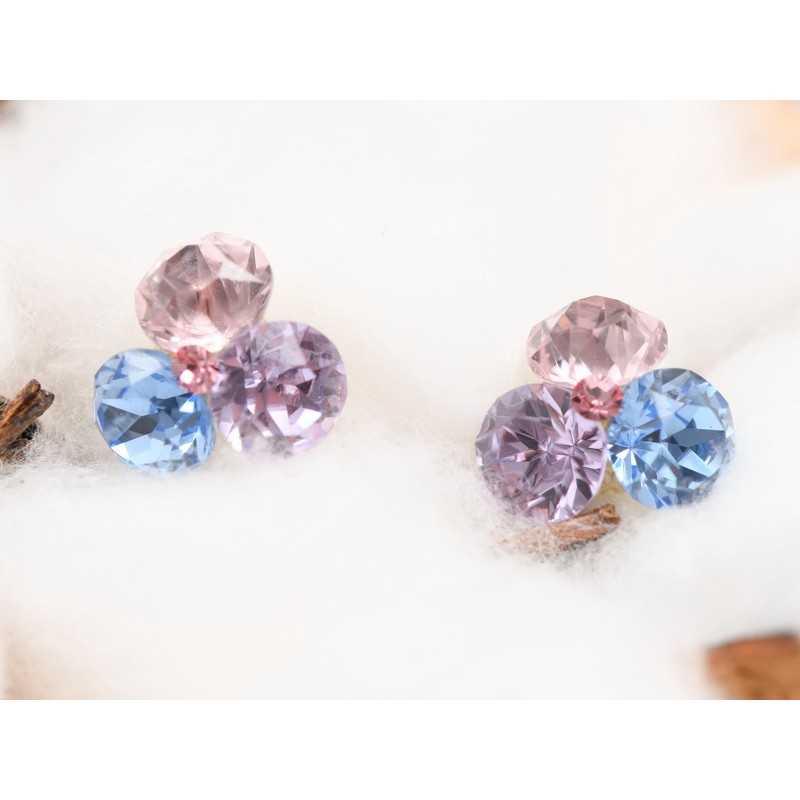 0381-SWAROVSKI ELEMENTS 2038 Blue zircon Shimmer S-Foiled Hotfix SS6-1buc