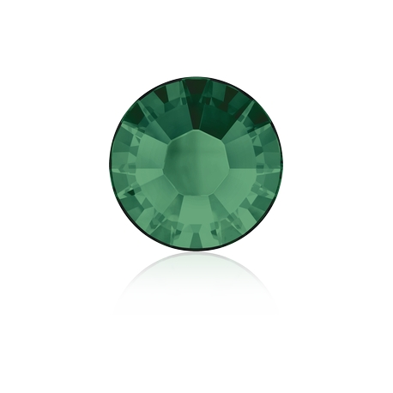 0305-SWAROVSKI ELEMENTS 2038 Emerald S-Foiled Hotfix SS10-1buc