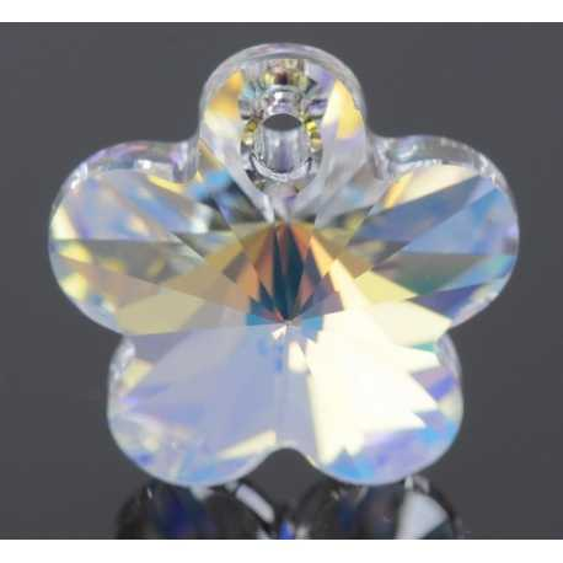 swarovski flower pendant 6744 crystal aurore boreale 14mm 6744 MM 14,0 CRYSTAL AB