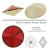 P3514-Swarovski Elements 1122 Scarlet Foiled 12MM-1buc