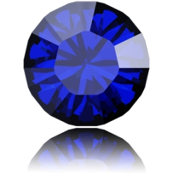 0851-SWAROVSKI ELEMENTS 1028 Majestic Blue foiled PP9 1.5MM-50buc