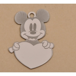 LASER-CUT-035-Charm Mickey Mouse inimioara 15x10.5mm 1 buc