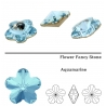 P1558-Swarovski Elements 4744 Aquamarine Foiled 10mm 1 buc