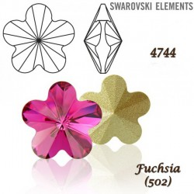 P1563-Swarovski Elements 4744 Fuchsia Foiled 10mm 1 buc