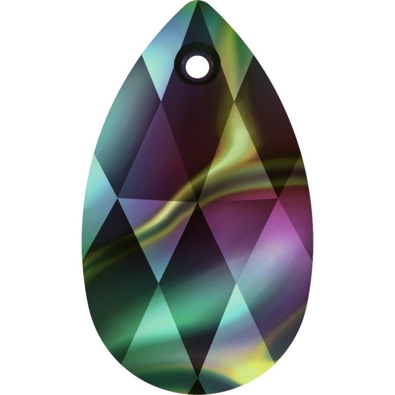 2312-Swarovski Elements 6028 Dark Moss Green 8 mm 1buc