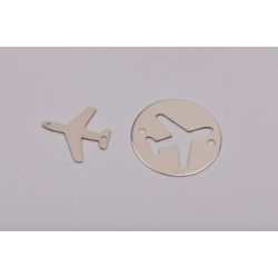 E0154-N-Banut 16.5mm decupat in forma de avion + charm avion