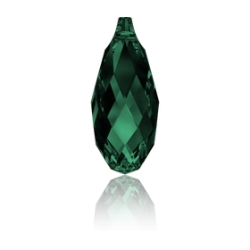 P3822-Swarovski Elements 6010 EMERALD 13x6.5mm