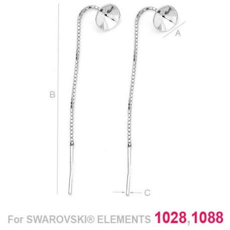 G0285-Cercei lantisor Swarovski Xirius Xilion Chaton 1088 SS39
