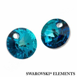 P3840-SWAROVSKI ELEMENTS 6428 Crystal Bermuda Blue 12mm