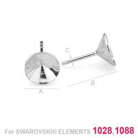 G0286-Tije pentru Swarovski Xirius Xilion Chaton 1088 SS39