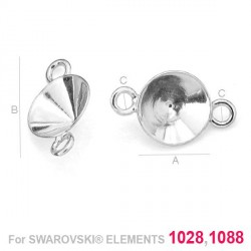 G0290-Link Swarovski Xirius Chaton 1088,1028 SS39