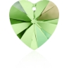 P0556-Swarovski Elements 6228 Peridot Aurore Boreale 14mm
