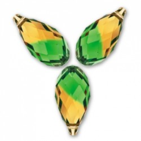 P1661-Swarovski Elements 6010 Fern Green Topaz Blend 11mm