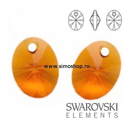 P1671-Swarovski Elements 6028 Tangerine 10 mm 1buc