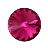 P0531-SWAROVSKI ELEMENTS 1122 Fuchsia Foiled 14mm-1buc