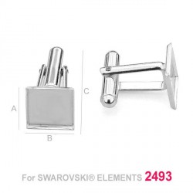 Butoni patrati 10mm pentru Swarovski 2493