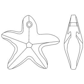 G294-Butoni patrati 10mm pentru Swarovski 2493 1 buc