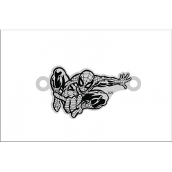 E0088-Link decupat argint 925 Spiderman 12x23mm 0.4mm
