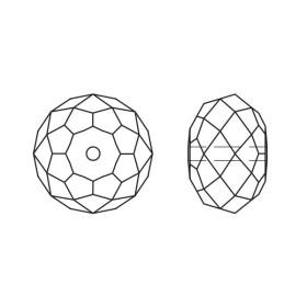 2407-SWAROVSKI ELEMENTS 5328 Metallic Gold 2X  5mm-1buc