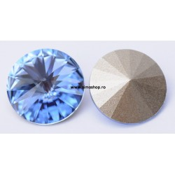 2411-SWAROVSKI ELEMENTS 1122 Light Sapphire Foiled SS39 8mm