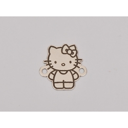 E0068-G-Link Hello Kitty din argint 925 14.15x14 - 0.4 mm-1 buc