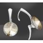 P0686-Swarovski Elements 6228 Silver Night 14mm