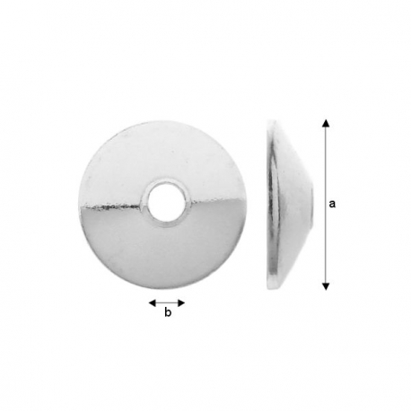 G310-Capacel rotund conic 6mm argint 925