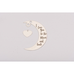 E0227-G-Semiluna cu inimioara I Love You to the Moon and Back 37mm x 23mm 0.4mm
