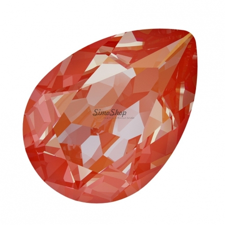 P0052-Swarovski Elements 4320 Orange Glow DeLite 14x10mm-1 buc