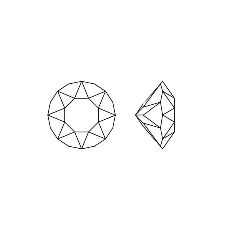 P1786-Swarovski Elements 2493 Chessboard FB Jet 8mm
