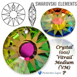 P1796-SWAROVSKI ELEMENTS 6724 Crystal Vitrail Medium 19mm 1 buc