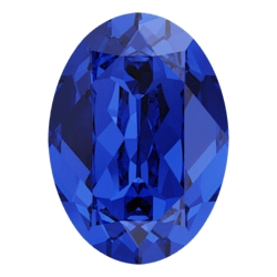 0255-SWAROVSKI ELEMENTS 4120 Majestic Blue Foiled 8x6mm-1buc