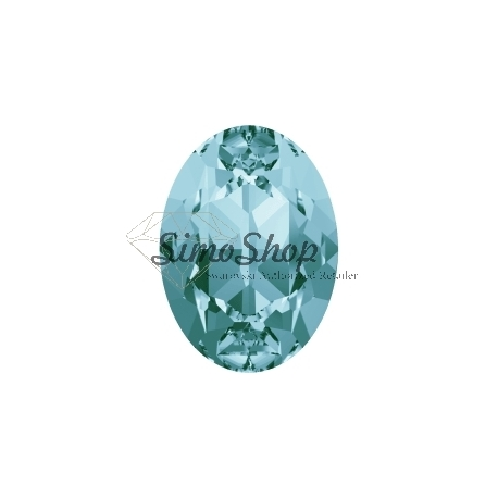 0267-SWAROVSKI ELEMENTS 4120 Light Turquoise Foiled 8x6mm-1buc