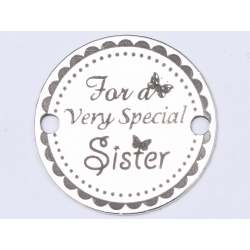 E0412 G Link din argint For a very special sister 16.5mm 0.33mm