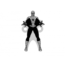 E0479 G Link din argint 925 Spiderman 20x11mm 0.5mm