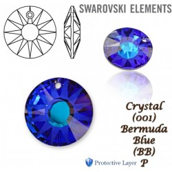 P1850-SWAROVSKI ELEMENTS 6724 Crystal Bermuda Blue P 12mm