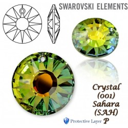 6724 MM 12,0 CRYSTAL SAHARA P SWAROVSKI ELEMENTS 6724 Crystal Sahara 12mm