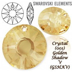 P1861-SWAROVSKI ELEMENTS 6724 Crystal Golden Shadow 12mm