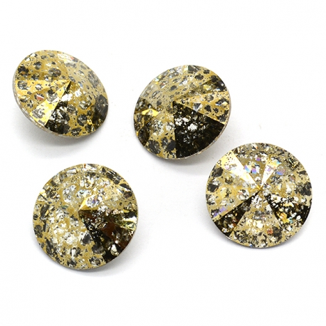 P1868-SWAROVSKI ELEMENTS 1122 Crystal Gold Patina F SS47-11mm