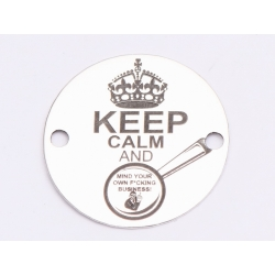"E0580 GS Link din argint 925 ""Keep calm and..."" 16.5mm 0.33mm 1 buc"