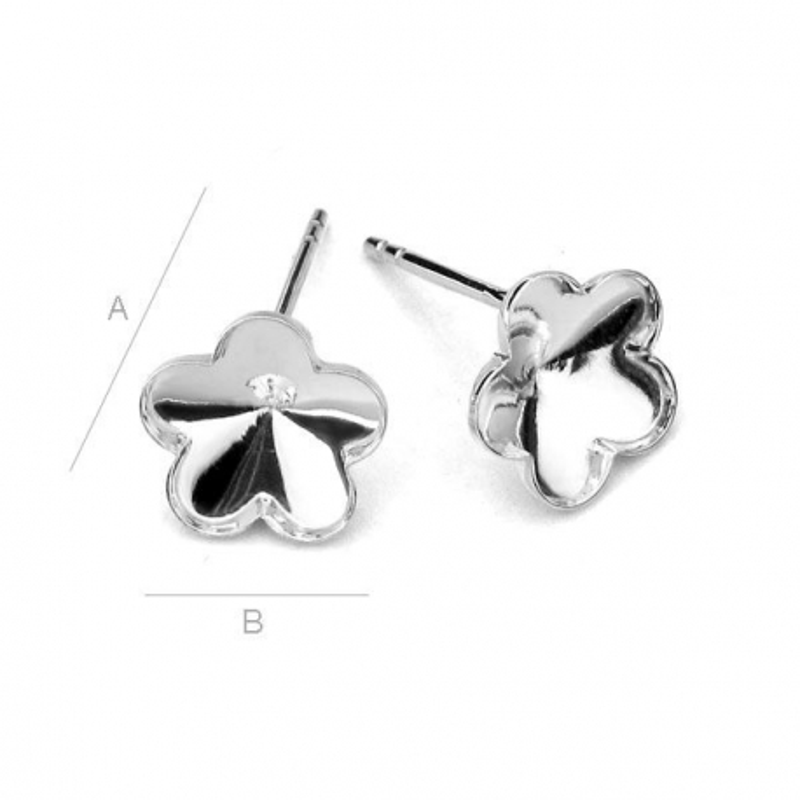 G0104-Tije pentru Swarovski Flower 4744 de 10mm