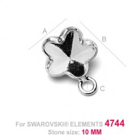 G0116-Baza pandantiv pentru Swarovski Flower 4744 de 10mm